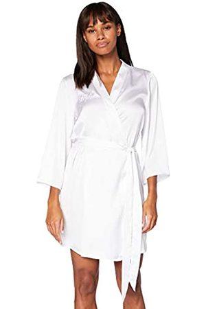 IRIS & LILLY Bata Kimono de Algodón Mujer, (White Bride), XXL