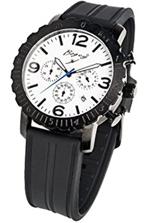 BOGEY Hombre Relojes - RelojCronógrafoparaHombredeCuarzoconCorreaenCauchoBSFS006WBBK