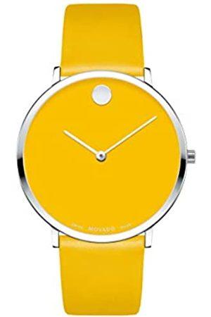 Movado Hombre Relojes - Reloj Analógico para Hombre de Cuarzo con Correa en Cuero 0607252