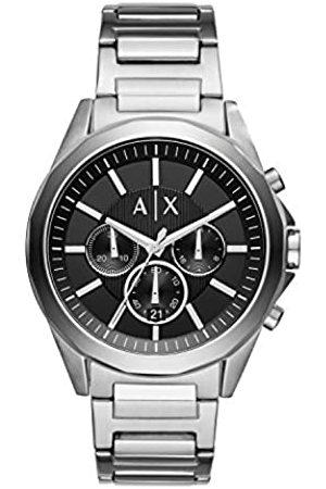Armani Hombre Relojes - Reloj Cronógrafo para Hombre de Cuarzo con Correa en Acero Inoxidable AX2600