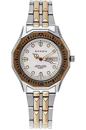 Shaon Hombre Relojes - Reloj Analógico para Hombre de Cuarzo con Correa en Acero Inoxidable 28-8002-18