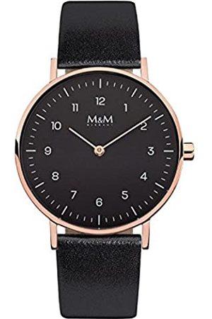 M&M RelojAnalógicoparaMujerdeCuarzoconCorreaenCueroM11892-496