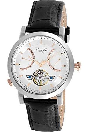Kenneth Cole Hombre Relojes - Reloj Analógico para Hombre de Automático con Correa en Cuero KC8014