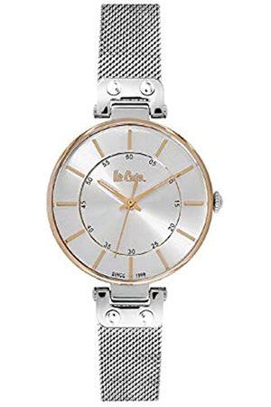 Lee Cooper Mujer Relojes - Reloj Analógico para Mujer de Cuarzo con Correa en Acero LC06401