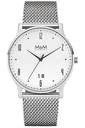 M&M Hombre Relojes - Reloj Analógico para Hombre de Cuarzo con Correa en Acero Inoxidable M11940-143