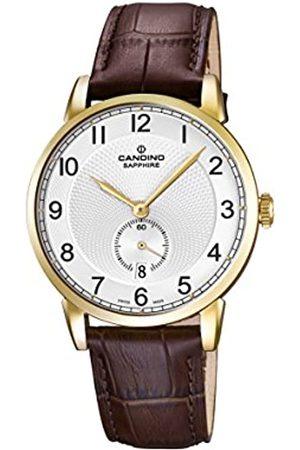 Candino Hombre Relojes - Reloj Hombre de Cuarzo con Esfera analógica Pantalla y Correa de Piel Color C4592/1