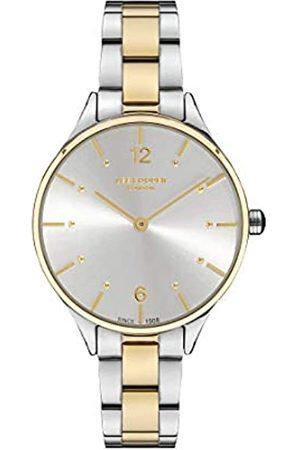 Lee Cooper Mujer Relojes - Reloj Analógico para Mujer de Cuarzo con Correa en Metal LC07027