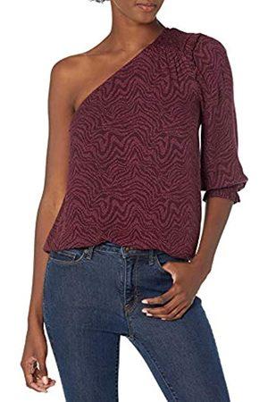 Goodthreads Top Tejido de Sarga fluida de un Hombro Dress-Shirts