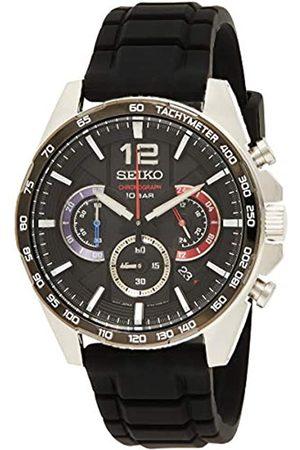 Seiko Hombre Relojes - Reloj Analógico para Hombre de Cuarzo con Correa en Silicona SSB347P1