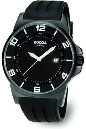Boccia Hombre Relojes - 3535-02 - Reloj analógico de caballero de cuarzo con correa de piel negra