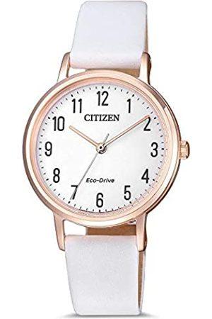 Citizen Mujer Relojes - Reloj Analógico para Mujer de Cuarzo con Correa en Cuero EM0579-14A