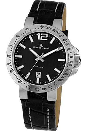 Jacques Lemans Hombre Relojes - 1-1718A - Reloj analógico de Cuarzo para Hombre con Correa de Piel