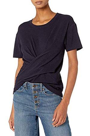 Daily Ritual Cotton Modal Stretch Slub Short-Sleeve Wrap T-Shirt Camisa