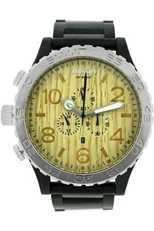 Nixon Hombre Relojes - A083630-00 - Reloj cronógrafo de Cuarzo para Hombre con Correa de Acero Inoxidable