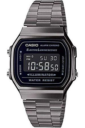 Casio Hombre Relojes - Reloj Digital para Hombre de Cuarzo japonés con Correa en Acero Inoxidable A168WEGG-1BEF