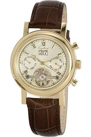 Engelhardt Hombre Relojes - 385704029011 - Reloj analógico de caballero automático con correa de piel - sumergible a 50 metros