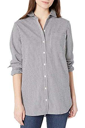 Goodthreads Mujer Blusas - Seersucker Long-Sleeve Boyfriend Shirt Shirts M