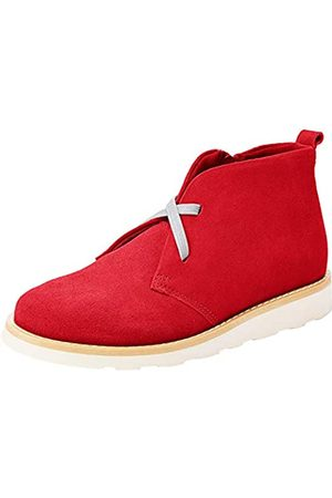 RED WAGON Niña Botines - Botines de Ante para Niñas, (Red)