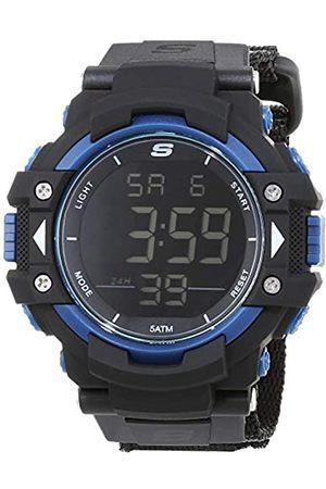 Skechers Hombre Relojes - Reloj Digital para Hombre de Cuarzo con Correa en Nailon SR1035