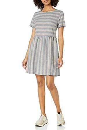 Goodthreads Washed Linen Blend Short-Sleeve Fit-and-Flare Dress S
