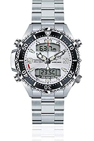 Chris Benz Reloj para Hombre de Cuarzo con Correa en Metal CB-D200X-SI-MB