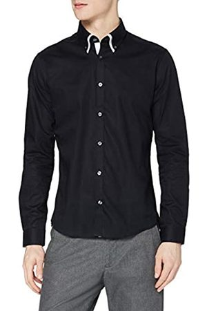 t shirts T-Shirts Camisa Oxford con Cuello Doble Hombre, L