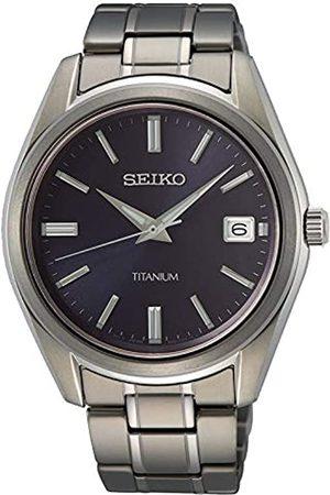 Seiko Hombre Relojes - Reloj Analógico para Hombre de Cuarzo con Correa en Metal SUR373P1