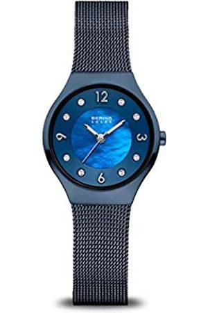 Bering Reloj Analógico para Mujer de Energía Solar con Correa en Acero Inoxidable 14427-393