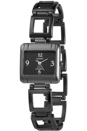 Akzent Mujer Relojes - SS7171000086 - Reloj analógico de mujer de cuarzo con correa de aleación negra - sumergible a 30 metros