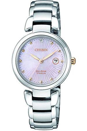 Citizen RelojAnalogicoparaMujerdeEnergíaSolarconCorreaenTitanioEW2506-81Y
