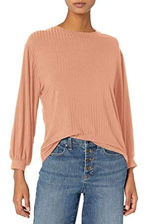 Daily Ritual Rayon Spandex Wide Rib Blouson-Sleeve Sweatshirt Camisa XXL