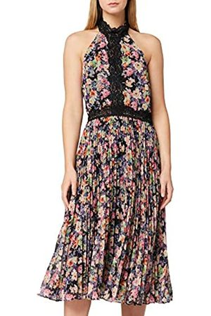 TRUTH & FABLE Marca Amazon - Vestido de Flores con Encaje Mujer, 38