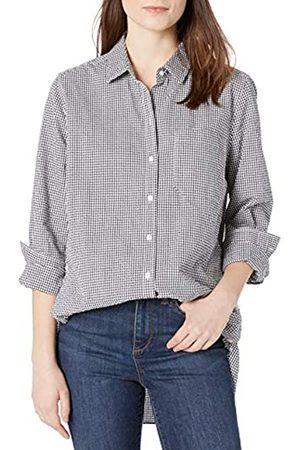 Goodthreads Mujer Blusas - Seersucker Long-Sleeve Side-Button Shirt Shirts M