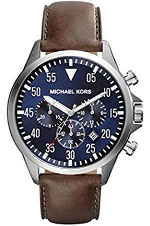 Michael Kors Hombre Relojes - Reloj Cronógrafo para Hombre de Cuarzo con Correa en Cuero MK8362