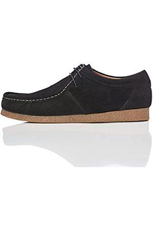 FIND Marca Amazon - Zapato de Ante estilo Hombre, Negro (Black)