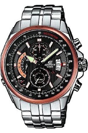 Casio Edifice EFR-501D-1AVEF - Reloj analógico de Cuarzo con Correa de Acero Inoxidable para Hombre (Alarma, cronómetro)
