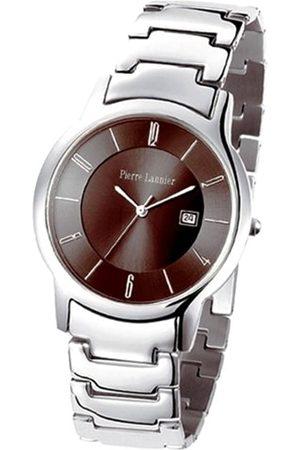 Pierre Lannier Hombre Relojes - 070F191 - Reloj analógico de Cuarzo para Hombre con Correa de Acero Inoxidable