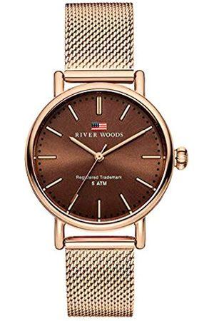 River Woods Mujer Relojes - Reloj Analógico para Mujer de Cuarzo con Correa en Acero Inoxidable RW340018