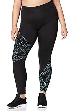 AURIQUE Mujer Leggings - Leggings de Deporte Mujer, (Black)