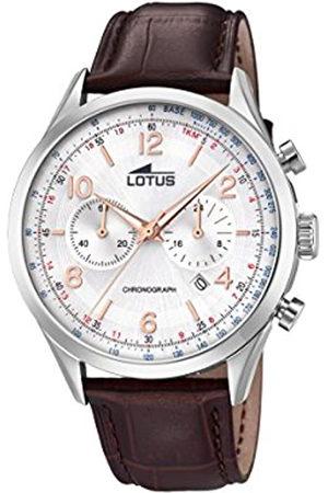 Lotus Hombre Relojes - Reloj Cronógrafo para Hombre de Cuarzo con Correa en Cuero 18557/1
