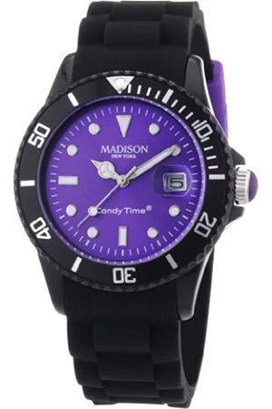 Madison Relojes - Reloj Análogo clásico para Unisex de Cuarzo con Correa en Caucho U4486-01