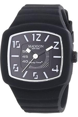 Madison Relojes - Reloj Analógico para Unisex de Cuarzo con Correa en Caucho U4613-A1