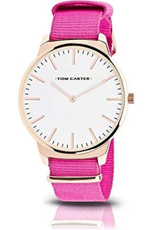 Tom Carter Hombre Relojes - Reloj Analog-Digital para Mens de Automatic con Correa en Cloth S0325064