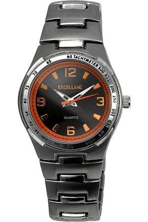 Excellanc Hombre Relojes - 280027500137 - Reloj analógico de caballero de cuarzo con correa de aleación plateada