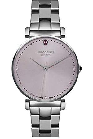 Lee Cooper Reloj Analógico para Mujer de Cuarzo con Correa en Metal LC07028