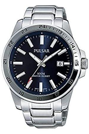 Seiko Pulsar Reloj Analógico para Hombre de Cuarzo con Correa en Acero Inoxidable PS9331X1
