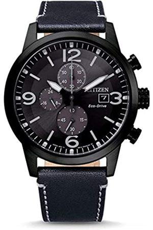 Citizen Hombre Relojes - Reloj Analógico para Hombre de Eco-Drive con Correa en Cuero CA0745-29E