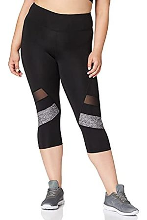 AURIQUE Mujer Leggings - Amazon Brand - Leggings deportivos capri con paneles para mujer, Nightshade/White, 40