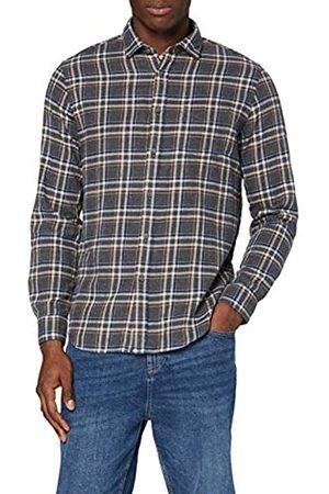 MERAKI Hombre Casual - Marca Amazon - Camisa de Manga Larga de Algodón Hombre, L