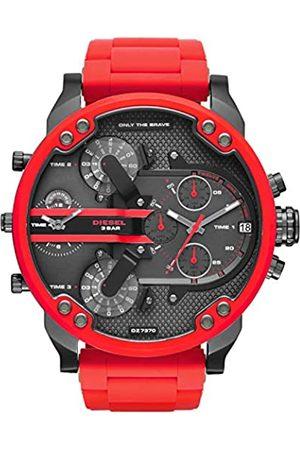 Diesel Hombre Relojes - Reloj Analogico para Hombre de Cuarzo con Correa en Acero Inoxidable & Silicona DZ7370